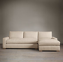Maxwell Upholstered Right-Arm Sofa Chaise Sectional