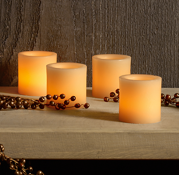 Wax Flameless Votives (Set of 4)