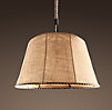 Burlap Barrel Chandelier