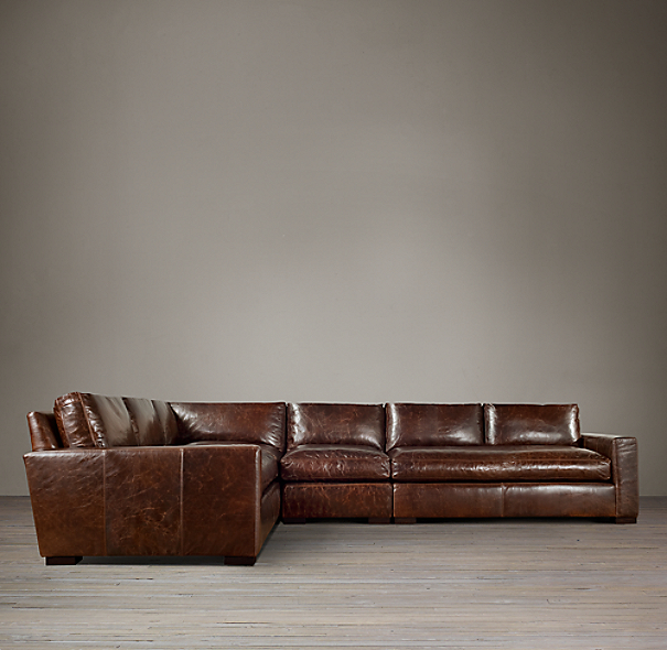 Preconfigured Maxwell Leather L Sectional