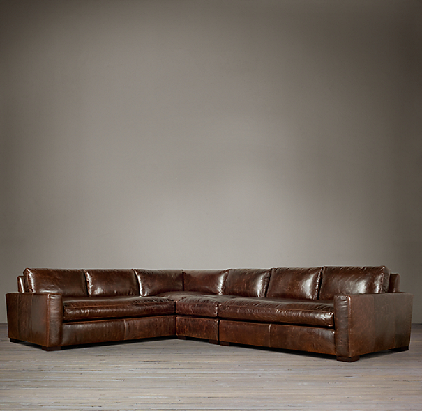 Maxwell Leather Left-Arm L-Sectional