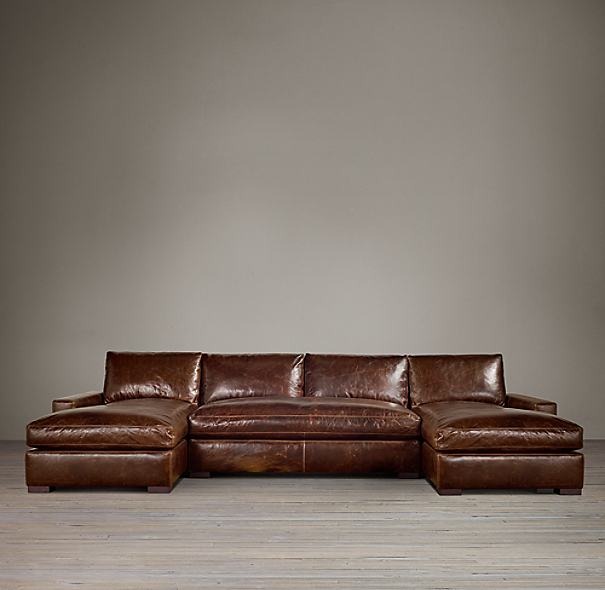 Maxwell Leather U-Chaise Sectional