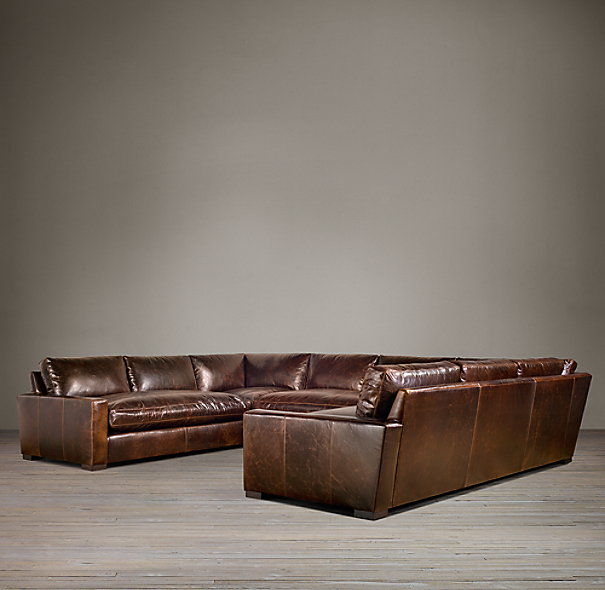 Maxwell Leather U-Sofa Sectional