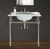 Gramercy Single Metal Washstand with Backsplash