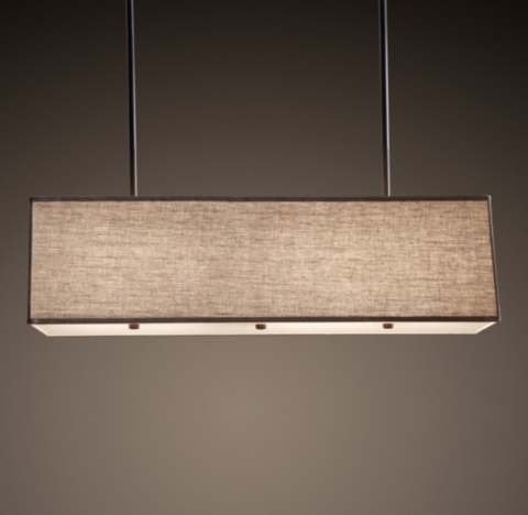 Restoration hardware rectangular shade pendant decor for When is restoration hardware lighting sale