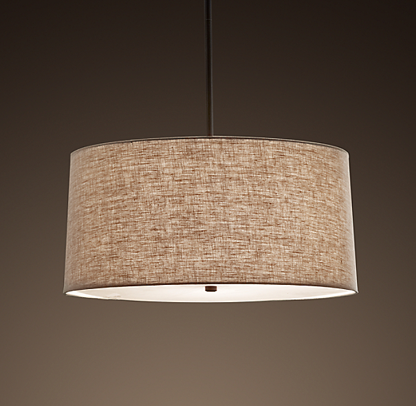 Restoration Hardware Light Fixture Sale: Round Shade Pendant