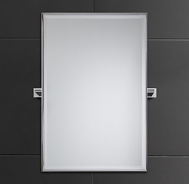 Modern Rectangular Pivot Mirror
