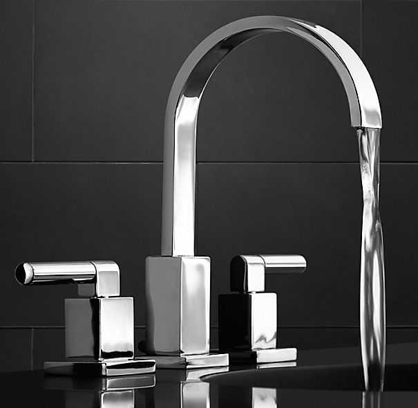 "Modern 8"" Widespread Faucet Set"