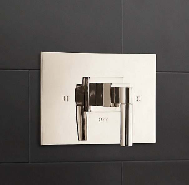 Modern Balance-Pressure Shower Valve & Trim Set (Backplate)