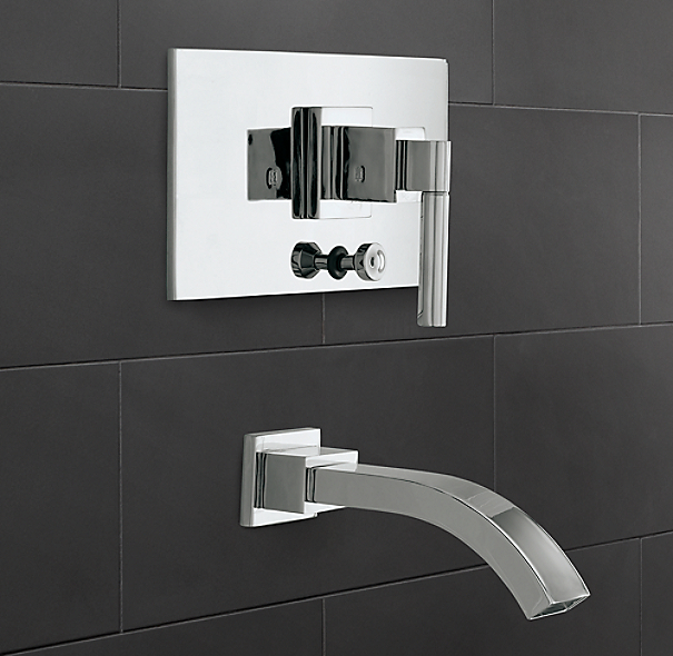 Modern Balance-Pressure Tub and Shower Valve & Trim Set