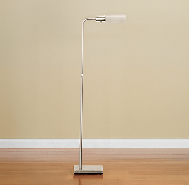 Classic Adjustable Task Floor Lamp Polished Nickel