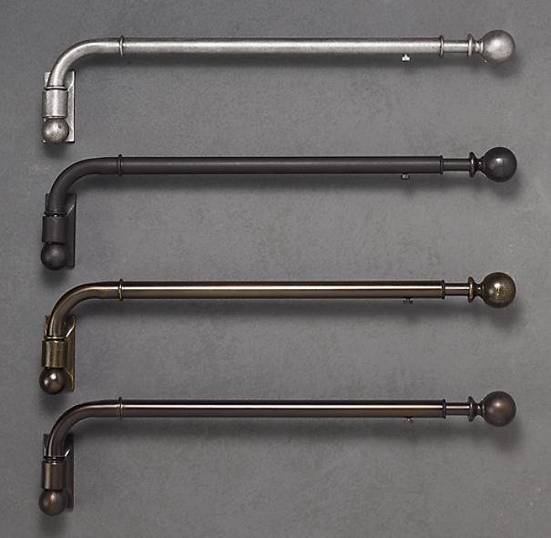 swing arm curtain rod restoration hardware reanimators