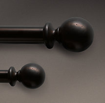 Dakota Ball Finials Burnished Amber (Set of 2)