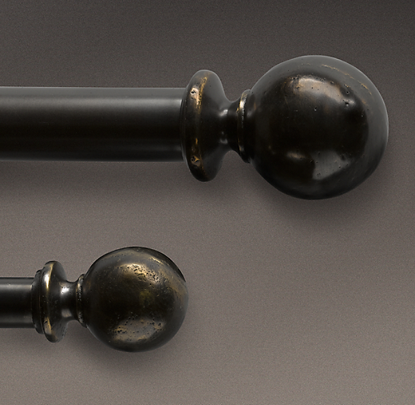 Dakota Ball Finials Chestnut (Set of 2)