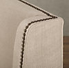"Warner Nailhead Upholstered 54"" Headboard with nailheads"