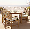 "71"" Santa Monica Rectangular Dining Set (Set of Table 2 Armchairs and 4 Side Chairs)"