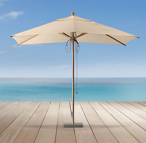 Teak Rectangular Umbrella