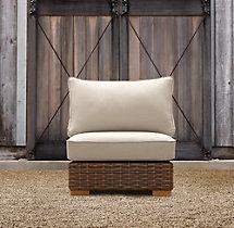 Antigua Armless Chair Cushion