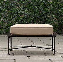 Catalina Ottoman Painted Metal