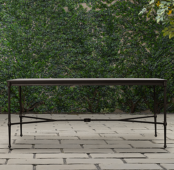 Catalina Rectangular Dining Table Painted Metal