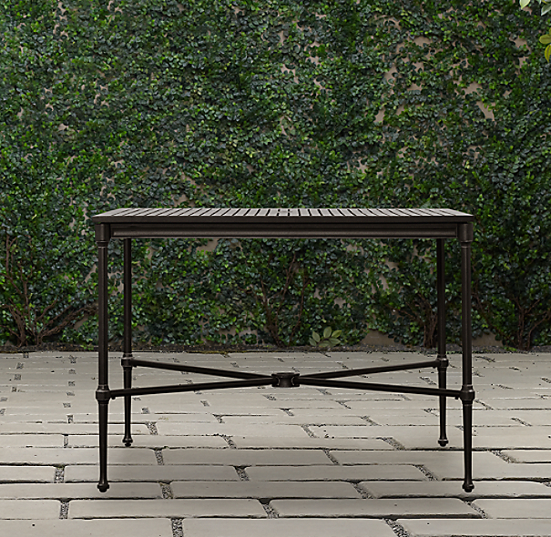 Catalina Small Square Dining Table Painted Metal