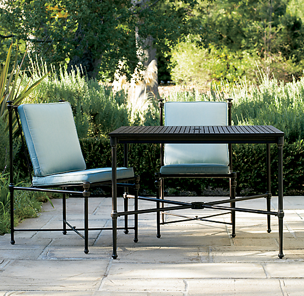 Catalina Small Square Dining Set Painted Metal (Set of Table and 2 Side Chairs)