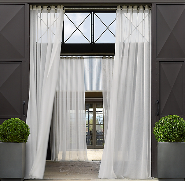 Sheer Outdoor Drapery