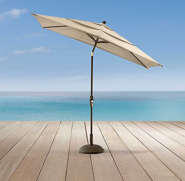 Aluminum Rectangular Umbrella Pewter