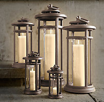 Avignon Round Lanterns Weathered Bronze