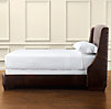 "Warner Nailhead Leather 54"" Bed without Footboard"