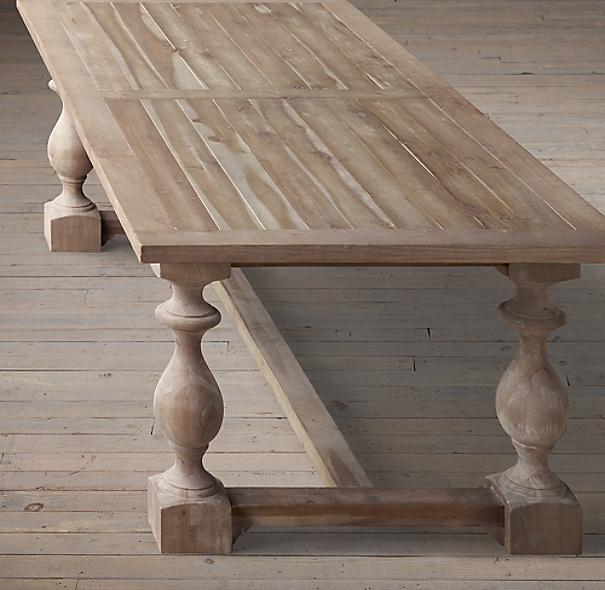 17th C Monastery Rectangular Dining Table