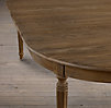 Vintage French Fluted-Leg Dining Tables
