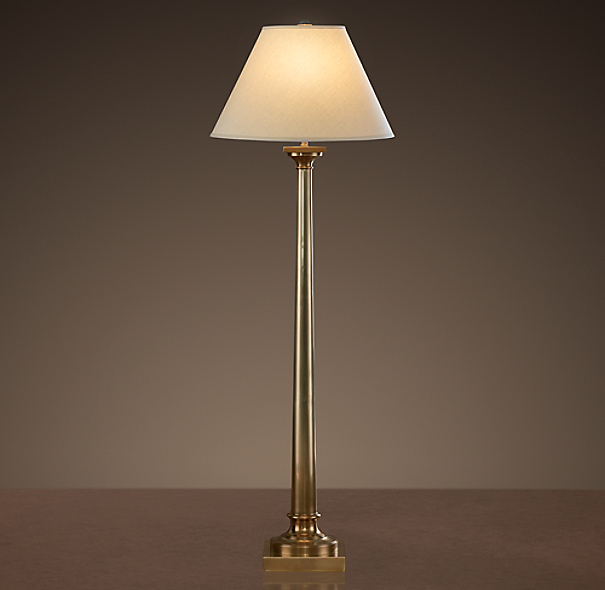 Classic Column Floor Lamp Antique Brass