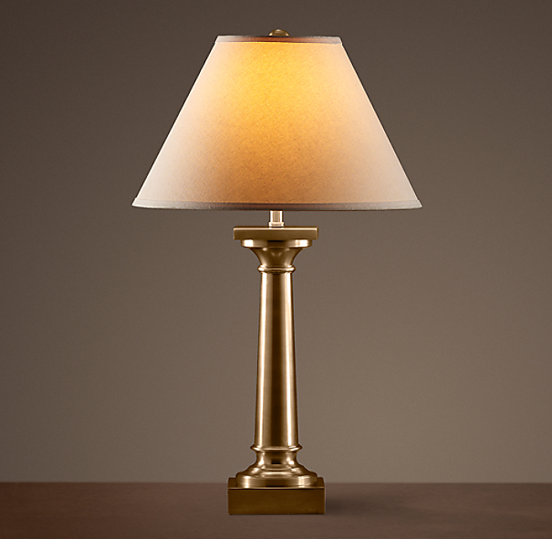 Classic Column Table Lamp Antique Brass