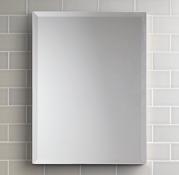 Frameless Rectangular Pivot Mirror