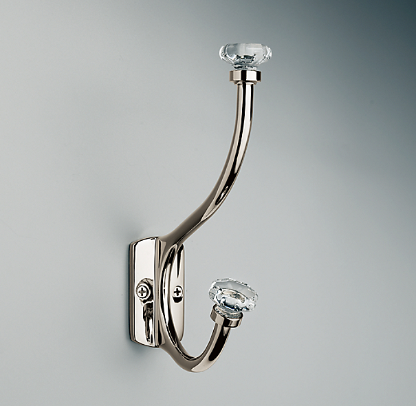 Traditional Clear Glass Hook