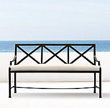 Carmel Bench Painted Metal
