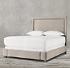 "Wallace Upholstered 60"" Bed With Nailhead Trim"