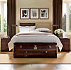 Wallace Upholstered Bed With Antique Brass Nailheads