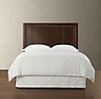 Wallace Leather Headboard With Brushed Nickel Nailheads