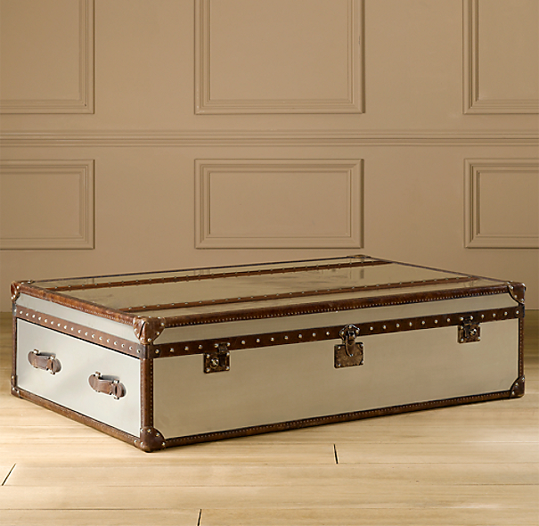 Mayfair Steamer Extra-Large Trunk Brushed Steel