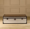 Mayfair Steamer Large Trunk Brushed Steel