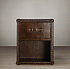 Mayfair Steamer Cube with Drawers Vintage Cigar Leather