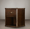 "24"" Mayfair Steamer Cube with Drawers Vintage Cigar Leather"