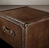 "17"" Mayfair Steamer Cube with Drawers Vintage Cigar Leather (Set of 2)"