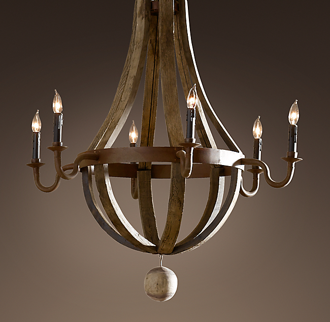 Elegant Wine Barrel Arm Chandelier