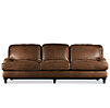 "96"" English Roll Arm Leather Sleeper Sofa"