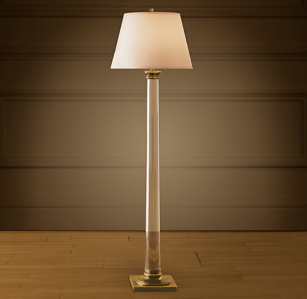 Idea)))) agree Antique floor lamp column can