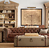 "118"" Kensington Leather Sofa"