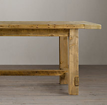 Farmhouse Salvaged Wood Extension Tables